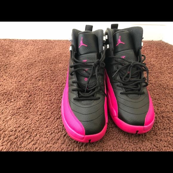 80c6198fc3fb61 Jordan Other - Air Jordan 12 GS Deadly Pink Black Sz 9.5Y
